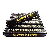 25 XL Black Market Boys Slumped Stick Shatter Labels Premium Empty Pre-roll Joint Tubes Child Resistant Design