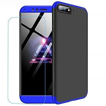 JJWYD Funda para Huawei Honor 10 Carcasa [Ultra-Delgado] [Ligera] Mate Anti-arañazos y Antideslizante Caso (No Incluido Protector de patalla) Azul ...