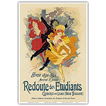 Jules Cheret Vintage French Advertisment Poster Redoute des Etudiants