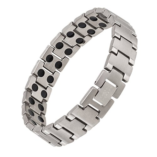 Sale!! Pure Titanium Magnetic Therapy Bracelet - Elegant Pain Relief Jewelry with 48 Magnets
