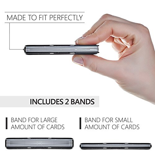 ROCO Minimalist Aluminum Slim Wallet RFID BLOCKING Money Clip - No.2 (Black) by Roco (Image #4)