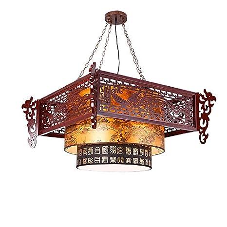Amazon.com: Estilo chino Antiguo Madera Piel De Oveja ...