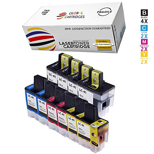 1840c Inkjet (Global Cartridges Compatible Ink Cartridges Set Replacement for Brother LC-41/LC41/ LC41BK LC41C LC41Y LC41M (10-Pack /4 X Black, 2 X Cyan, 2 X Yellow, 2 X Magenta))