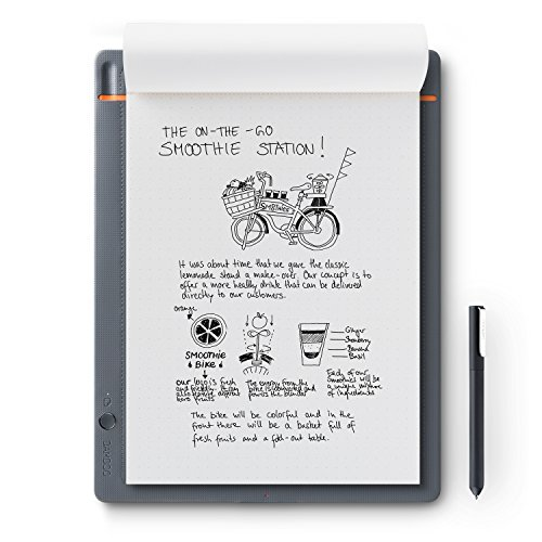 Wacom Bamboo Slate Smartpad Digital Notebook, Large (A4/ Letter Size), CDS810S by Wacom
