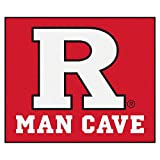 "NCAA Rutgers Man Cave Tailgater Rug, 60"" x 72""/Small, Black"