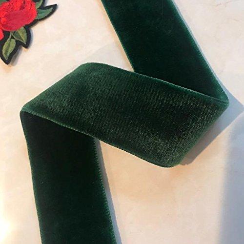 Green Velvet Ribbon - 5