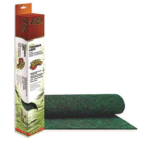 Zilla Reptile Terrarium Bedding Substrate Liner, Green, (Eco Carpet)