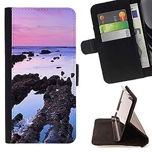 For HTC One M8,S-type Planta Naturaleza Forrest Flor 83- Dibujo PU billetera de cuero Funda Case Caso de la piel de la bolsa protectora
