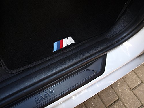 NEW CAR FLOOR MATS BLACK with ///M EMBLEM for BMW 5 series F10 2009, 2010, 2011, 2012, 2013, 2014, 2015, 2016 by VOPI MATS (Image #5)'