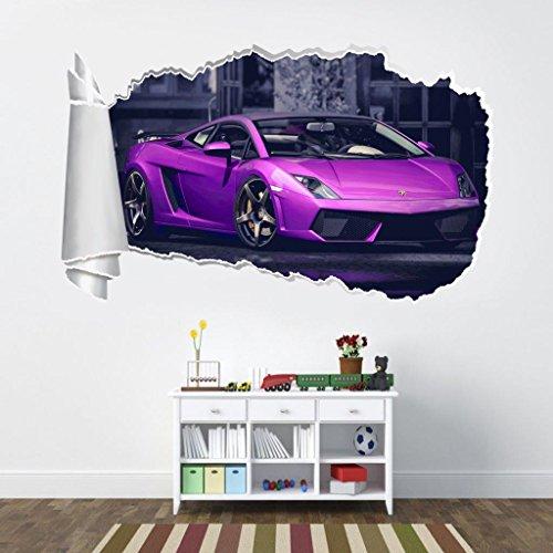 Lamborghini Gallardo 3D Torn Hole Ripped Wall Sticker Decal Art Luxury Car WT236, Huge by Dizzy (Image #2)