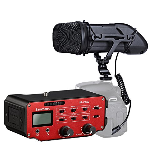 Movo DSLR Audio Bundle with Heavy-Duty X/Y Stereo Video Microphone and Premium Mixer for DSLR Cameras & Camcorders