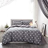 Mumgo Home Bedding for Adult Kids Duvet Cover Sets 100% Cotton-Not Include Comforter (Twin Size-3 Piece, Flat Sheet)