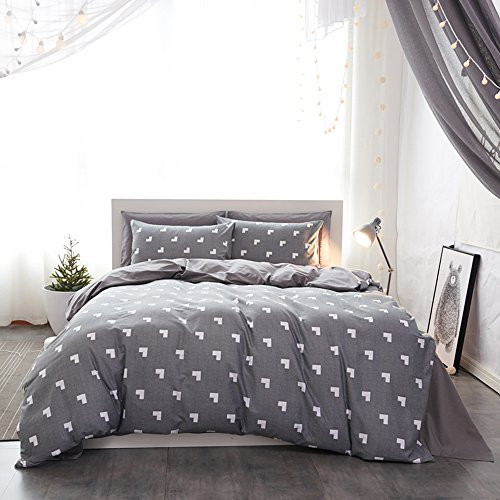 Mumgo Home Bedding for Adult Kids Duvet Cover Sets 100% Cotton-Not Include Comforter (Twin Size-3 Piece, Flat Sheet) by Mumgo