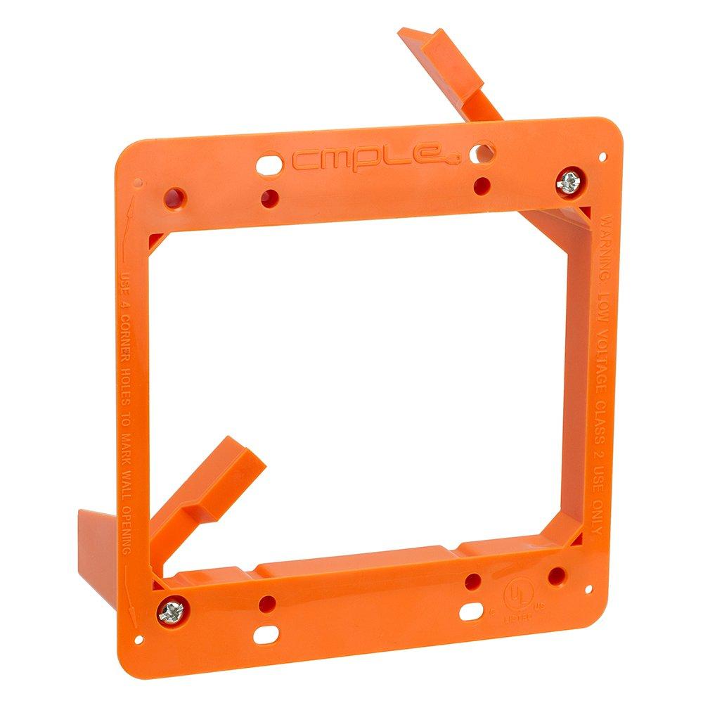 Cmple Low Voltage Mounting Bracket 2 Gang Multipurpose Drywall Mounting Wall Plate Bracket Dual Gang