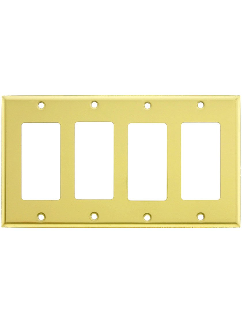 Classic Four Gang Gfi Cover Plate In Polished Chrome - Switch Plates ...