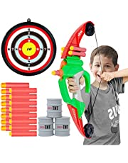 Bow and Arrow - Kids Archery Set with Suction Cups Arrows and Target,Sport Outdoor Games(Over 100ft)