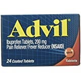 Advil Ibuprofen Pain Reliever/Fever Reducer, 200 mg Coated Tablets - 24 ct, Pack of 5