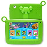 NPOLE Kids Tablets Android 7 Inch 1280x800 IPS Display with Parental Control Software - iWawa RAM Wifi Camera 3D Game HD Video Supported Green