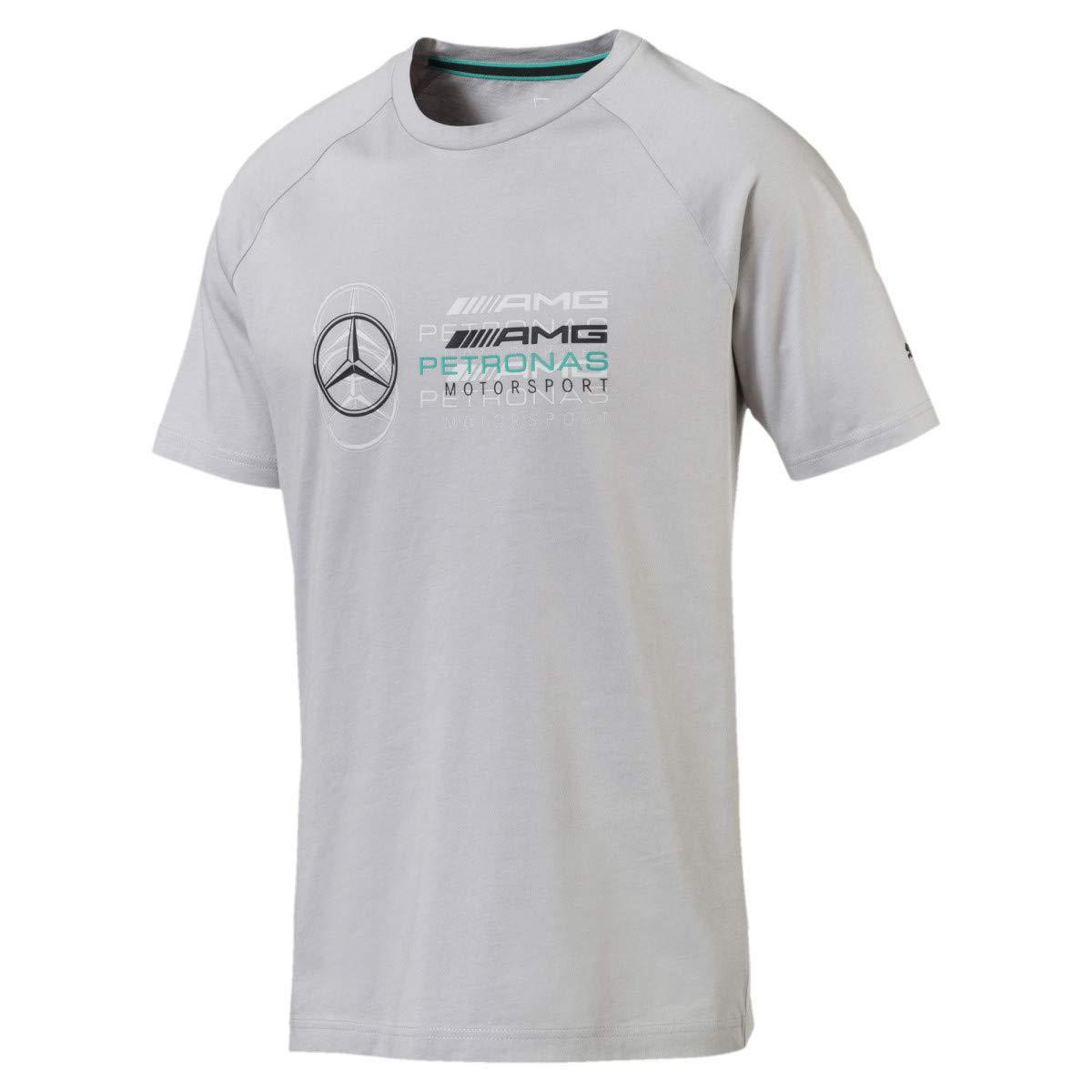 T-Shirt Gris XX-Large Homme MERCEDES AMG PETRONAS Mercedes Amg Logo Tee Gray XXL T