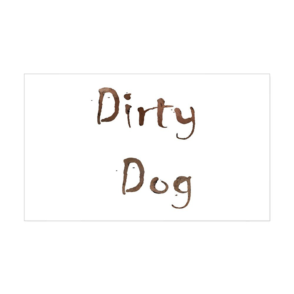 Amazon com cafepress dirty dog rectangle sticker rectangle bumper sticker car decal home kitchen