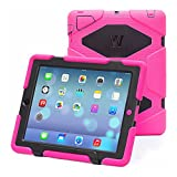 Ipad 2/3/4 Case, Kidspr Ipad Case *New* *Hot* Super Protect [Shockproof] [Rainproof] [Sandproof] with Built-in Screen Protector for Apple Ipad 2/3/4 (Pink/Black)
