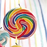 Tag Colorful Party Swirl Lollipop Candles - Large
