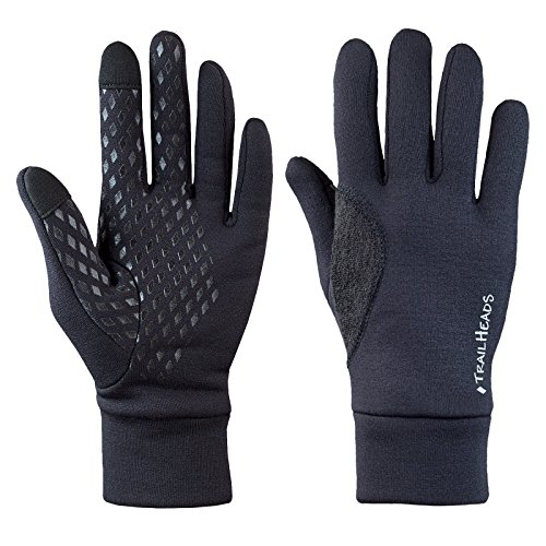 TrailHeads Men's Power Stretch Touchscreen Running Gloves - Medium