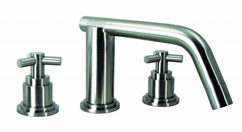 Low Spout Widespread Lavatory Faucet 5-1/2'' Spout XT Tri Spoke Handles - Satin Nickel