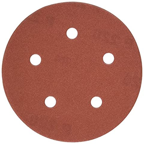 PORTER-CABLE 735502225 5-Inch 5-Hole Hook and Loop 220 Grit Sanding Discs (25-Pack) - Porter Cable Metal