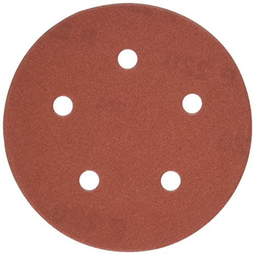 PORTER-CABLE 735502225 5-Inch 5-Hole Hook and Loop 220 Grit Sanding Discs (25-Pack)