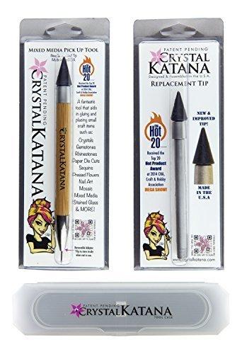 Crystal Katana Rhinestone Applicator Ultimate Kit: Includes Crystal Katana, Replacement Tip, and Storage Case by Crystal Katana