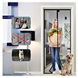 Magnetic Screen Door with Heavy Duty Mesh Curtain, Tight Self Closing Magnetic Seal, Heavy Duty, Hands Free, Pet and Kid Friendly, Full Frame Hook & Loop, Fits All Size up to 83' x 39'