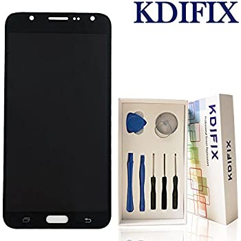 KDIFIX for Samsung Galaxy J7 Prime (2016) G610F G610K G610L G610Y G610M/DS LCD Touch Screen Assembly with Full Professional Repair Tools kit (Black)