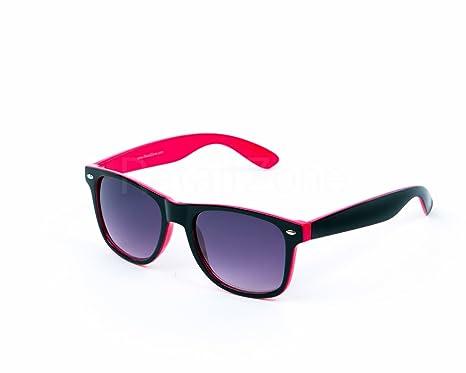 Festival estilo Wayfarer Gafas de sol de dos tonos rosa y ...