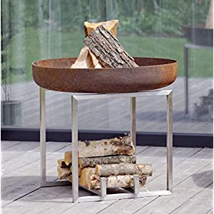 Steel Fire Pit CUBE Contemporary Design