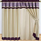 1 Pair of Sonata Purple Window curtain set including 2 panels 60×84″ each For Sale