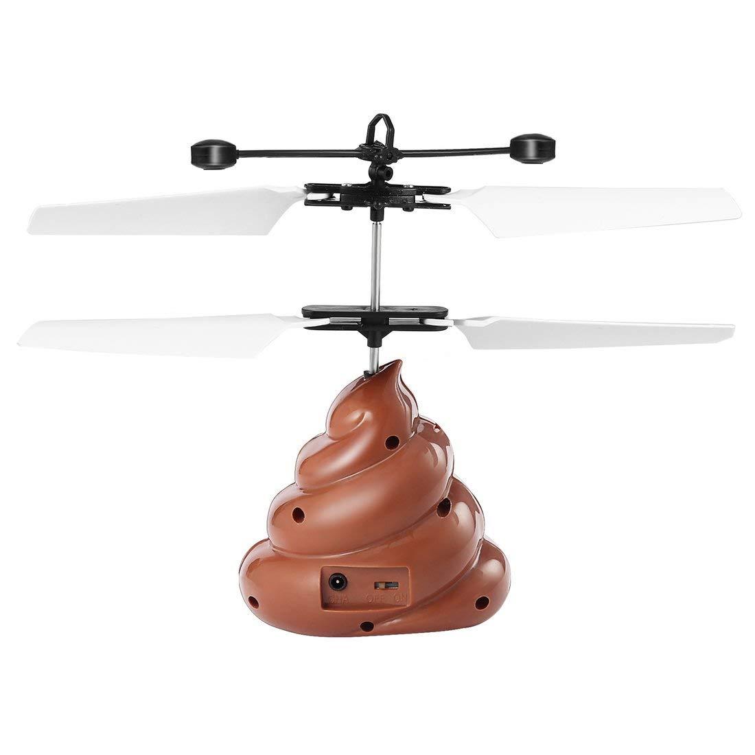 Poop a Forma di Volo in bilico UFO Sensore a infrarossi Disco Volante Mano indotta in bilico Volo Galleggiante Fantastico LED Kids Toys Formulaone