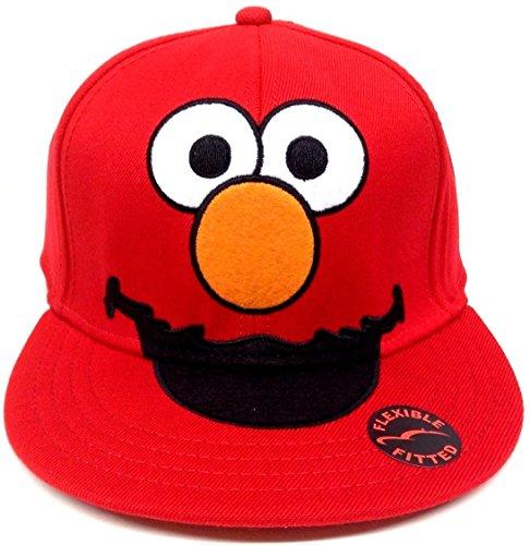 Oscar The Grouch Adult Hat (Sesame Street Big Face Elmo Flex Fit Hat Cap [Misc.])