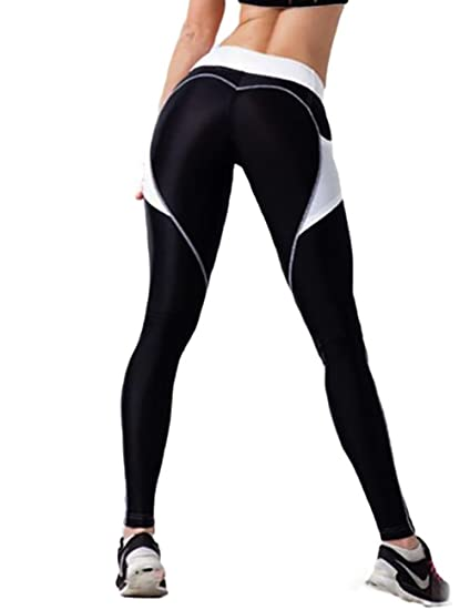 51f92a5dadb1c NonEcho Heart Shape Fitness Leggings Yoga Pants Capris High Waist Workout  Tights Sports Trousers for Women