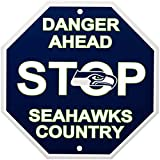 Fremont Die NFL Seattle Seahawks Stop Sign, 12″ x 12″, Multicolor