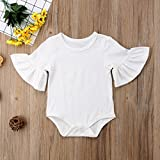 Infant Baby Girl Basic Bell Short Sleeve Cotton