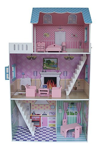 Amazing Liberty House Toys Townhouse Dollhouse With Furniture (Multi Colour) By Liberty  House Toys