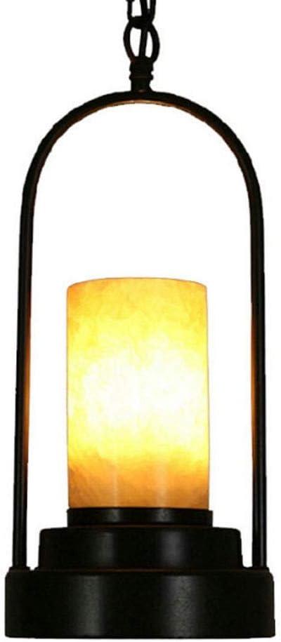 Wlnnes Iluminación de techo Retro Restaurante Bar Mármol Americano Industrial Estilo Colgante Luz de lámpara Colgando Linterna Forjada Hierro Francés Candillo de Techo Luz de Techo Lámparas de Techo