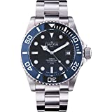 Davosa Swiss Automatic Watch for Men - Mechanical 500m Dive Ternos Professional Stainless Steel Wristband & Ceramic Bezel Watch (16155940)