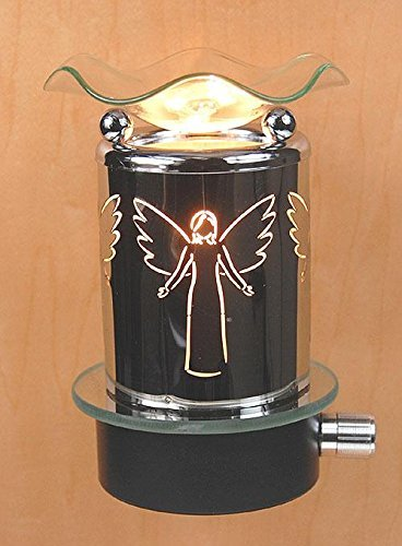 L&V Electric Metal Plug In Night Light Wax Burner Oil Warmer Angel Design