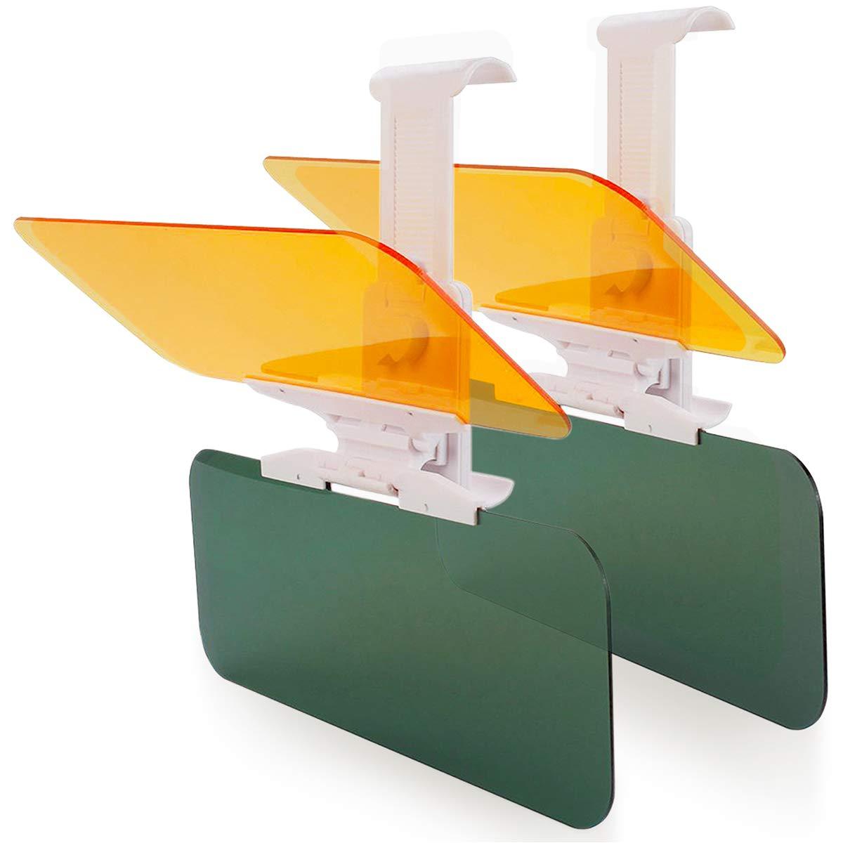 Monojoy Estensione HD visiera parasole per auto, antiriflesso, anti-UV, antiabbagliamento, giorno e notte, protezione per occhi GKmall