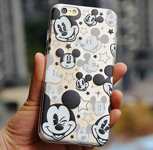 brand new 5b54e ad7ba For iPhone 5 / 5S Case - Disney Mickey Mouse Faces Soft TPU Black/Clear  Transparent Rubber Silicone ULTRA THIN Slim Fitting Skin Cover (Apple  iPhone 5 ...