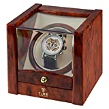 Time Tutelary Watch Winder - Burl Bild 3
