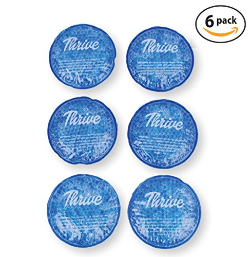 6k Ice (Round Hot & Cold Packs (6 PACK) - Heat or Ice Therapy - Flexible reusable gel beads with cloth fabric backing - Great For: Wisdom Teeth, Breastfeeding, Tired Eyes, Injuries, Headaches, Sinus Relief)