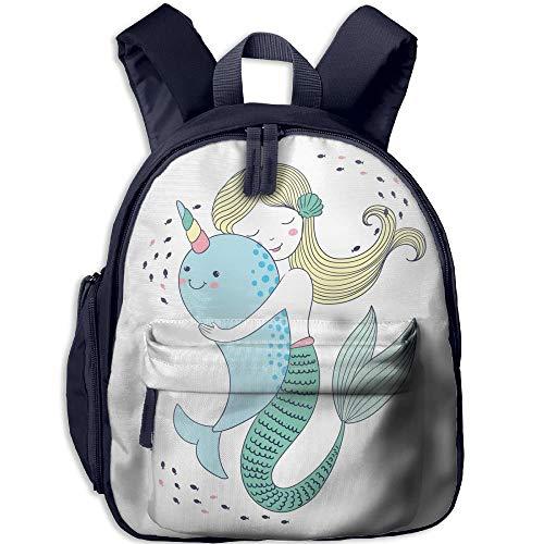 Kindergarten Backpack Mermaid And Narwhal Children School Bag -